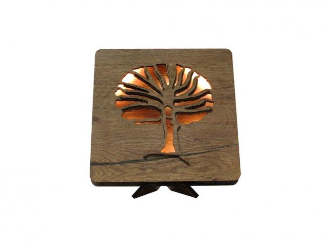 tree chestnut 44 dt 1 tbílá stolní LED lampa 31x31cm