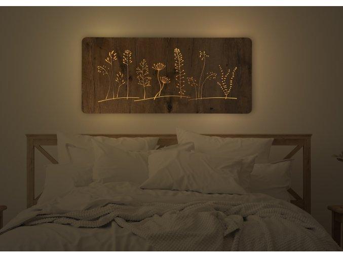 """""""Louka velká"""" obrazové svítidlo svítidlo s power bankou 90x42cm"""
