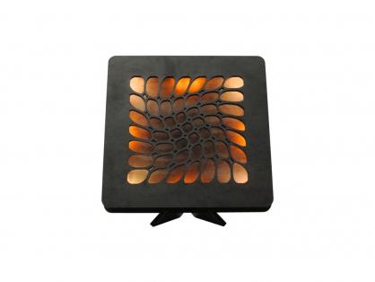 mesh 22 červ+žlu 1 stolní LED lampička 31x31cm
