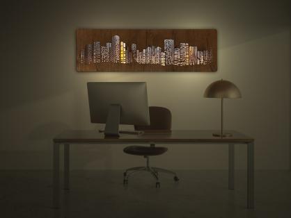 """Obrazové LED svítidlo 125x38cm """"Mrakodrapy"""""""