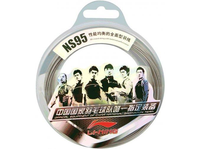 Badmintonový výplet LI-NING NS 95 Set Silver