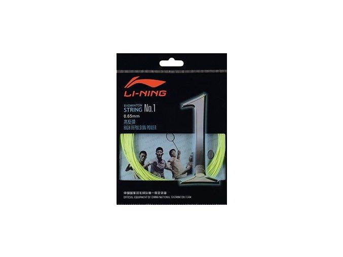 Badmintonový výplet LI-NING N.1 Yellow 0,65 mm - žlutá