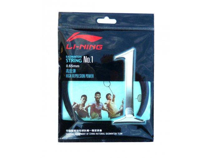 Badmintonový výplet LI-NING N.1 Black 0,65 mm - černá