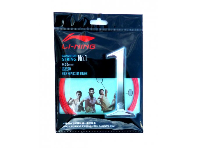 Badmintonový výplet LI-NING N.1 Red 0,65 mm - červená