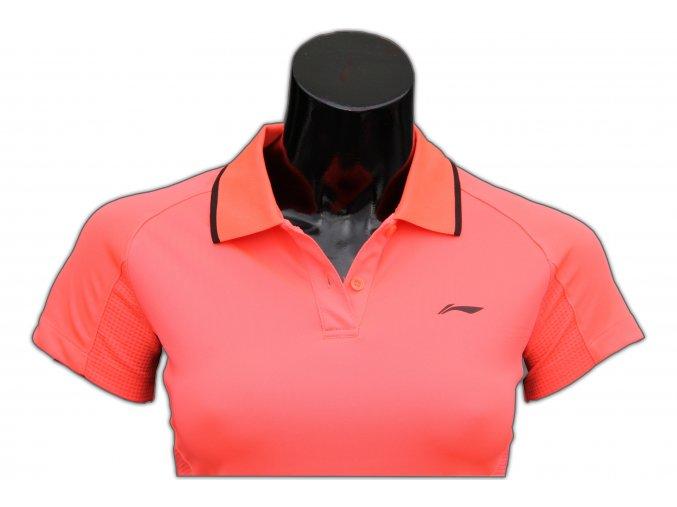 Sportovní triko s límečkem LI-NING Women 2016 Flash PINK