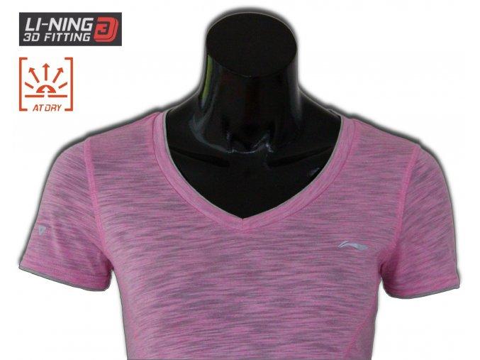 LI-NING BITE 2016, PINK, Dámské sportovní tričko