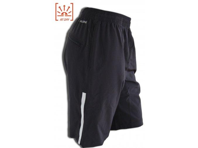LI-NING STABLE RUN 2016, Black, Pánské sportovní kalhoty, krátké