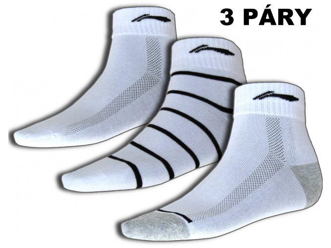 Sportovní ponožky LI-NING STABLE 2016 Pánské - set 3 páry