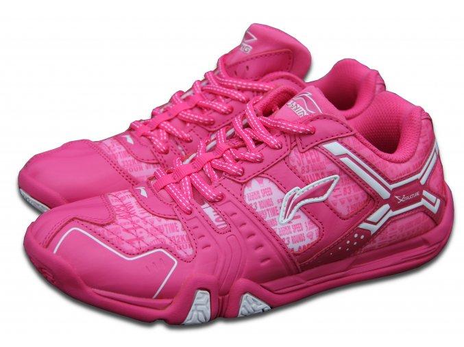 LI-NING Metall X STORM II, Flash Pink, Dětská sálová obuv