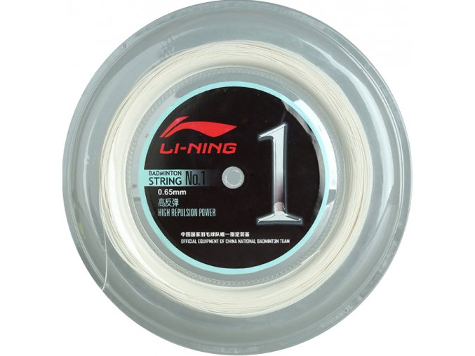 Badmintonový výplet LI-NING NO.1 role 200m, bílý