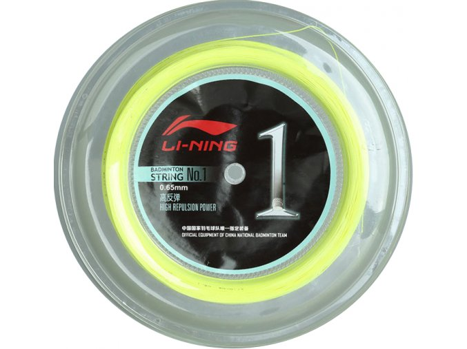 Badmintonový výplet LI-NING NO.1 role 200m, žlutý