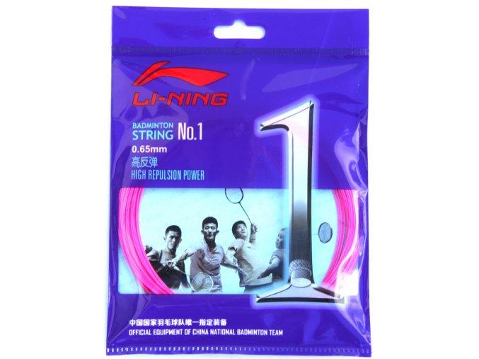 Badmintonový výplet LI-NING N.1 Pink 0,65 mm - růžová