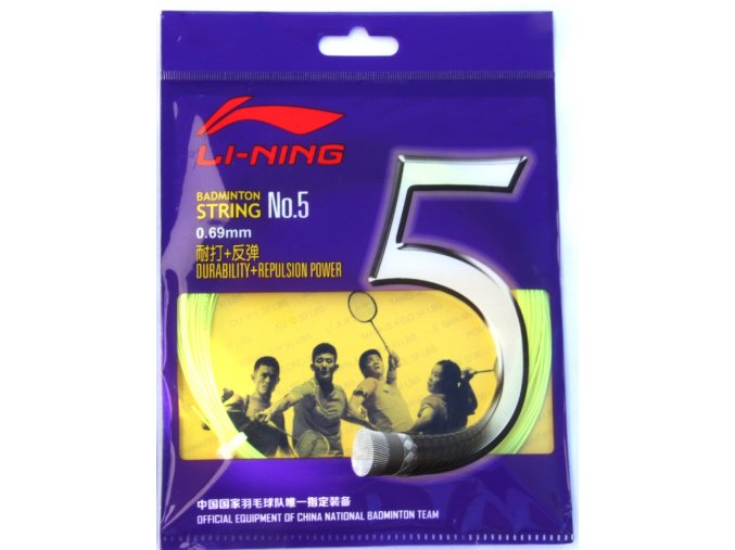 Badmintonový výplet LI-NING N.5 Yellow 0,69 mm - žlutá