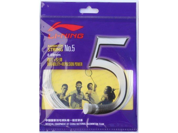 Badmintonový výplet LI-NING N.5 White 0,69 mm - bílá
