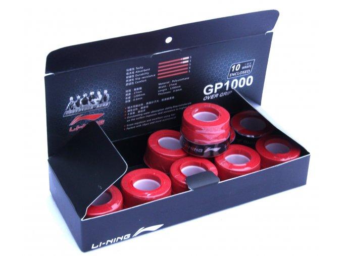 Omotávka Overgrip Glue - red - 10 ks, červená