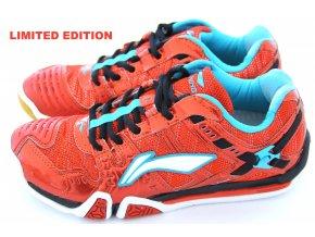 LI-NING Metall X III Ultimate Flash RED, TOP Pánská sálová obuv LIMITOVANÁ EDICE