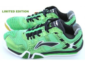 LI-NING Metall X III Ultimate Flash GREEN, TOP Pánská sálová obuv - LIMITOVANÁ EDICE