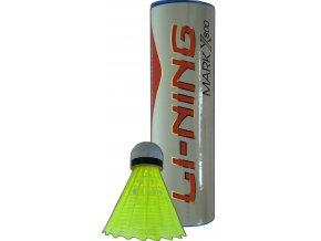 Plastové míče LI-NING MARK X800 Medium, žluté