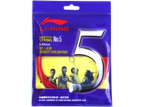 Badmintonový výplet LI-NING N.5 Red 0,69 mm - červená