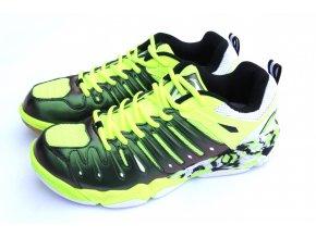 LI-NING IMPACT, GREEN/WHITE, Pánská sálová obuv