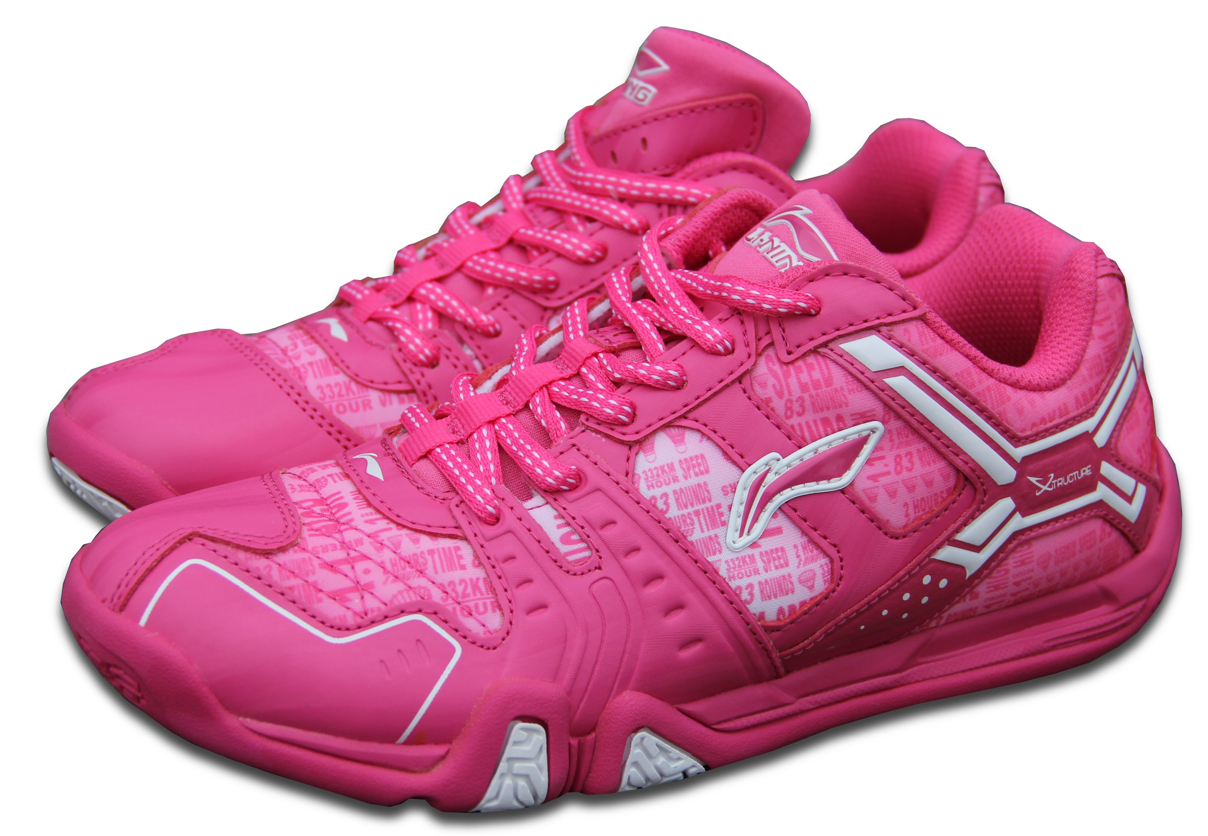LI-NING Metall X STORM II, Flash Pink, Dámská sálová obuv Velikost: 5 USw, (EUR 35, délka stélky 215mm)