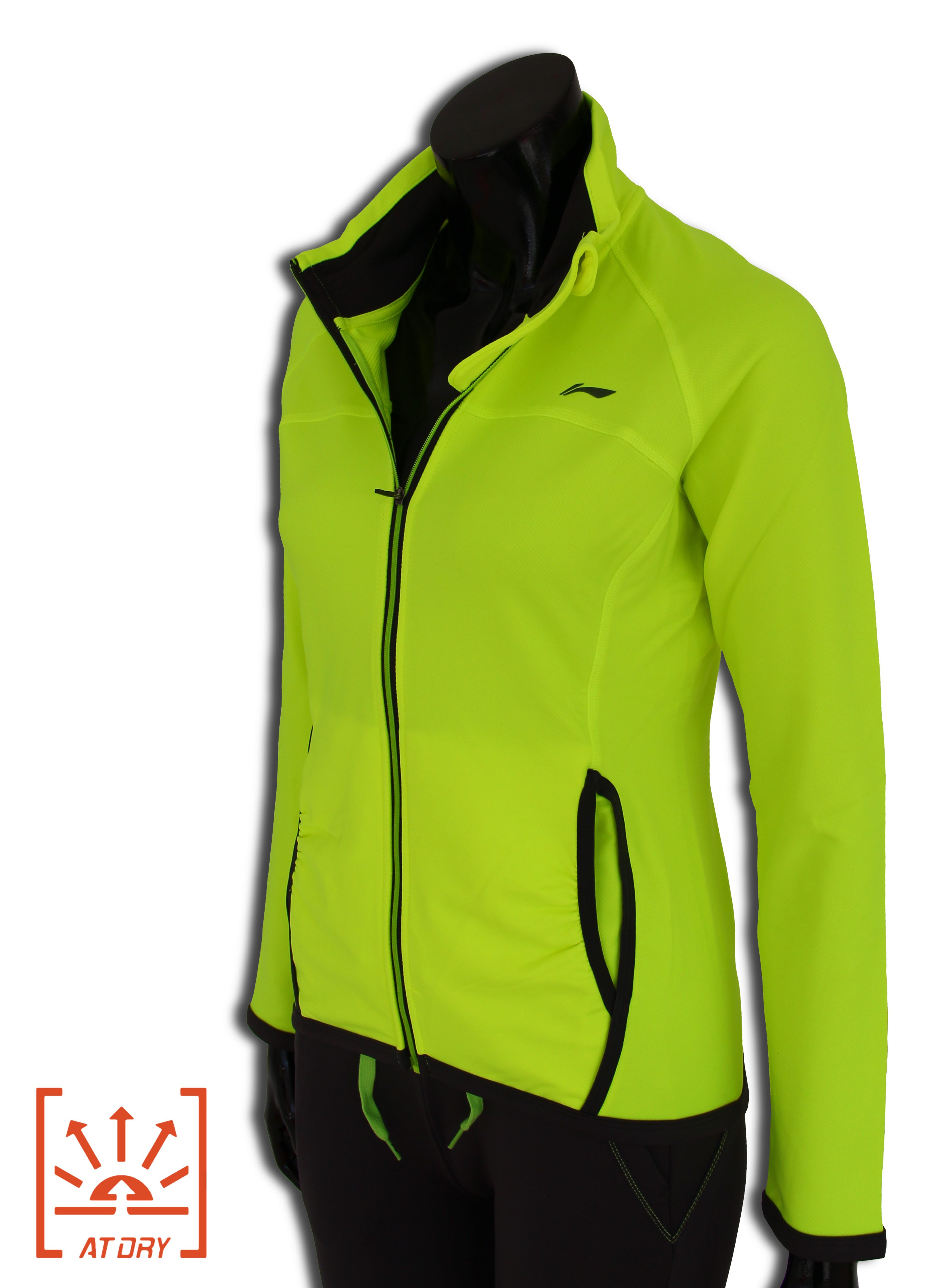 LI-NING BITE 2016, Fresh GREEN, Dámská sportovní bunda Barva: Zelená, Velikost: XS