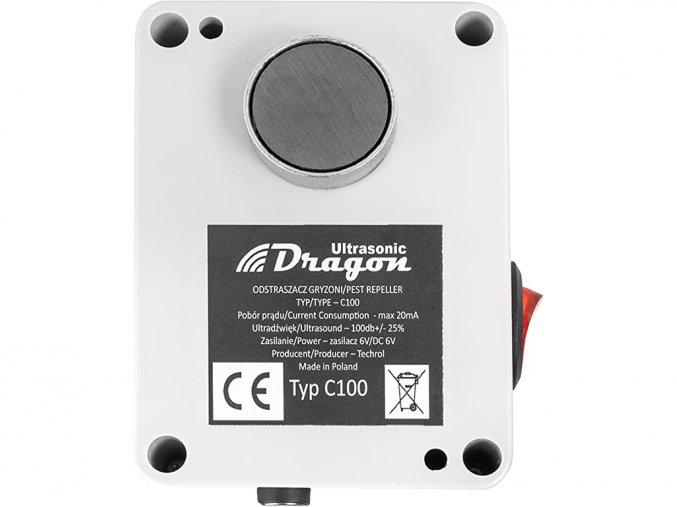 Vodotesný, ultrazvukový plašič na kuny, myši a potkany DRAGON ULTRASONIC C100 p1