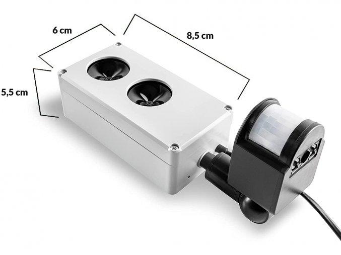 Vodotesný, ultrazvukový plašič na kuny, myši a potkany DRAGON ULTRASONIC E250 p1