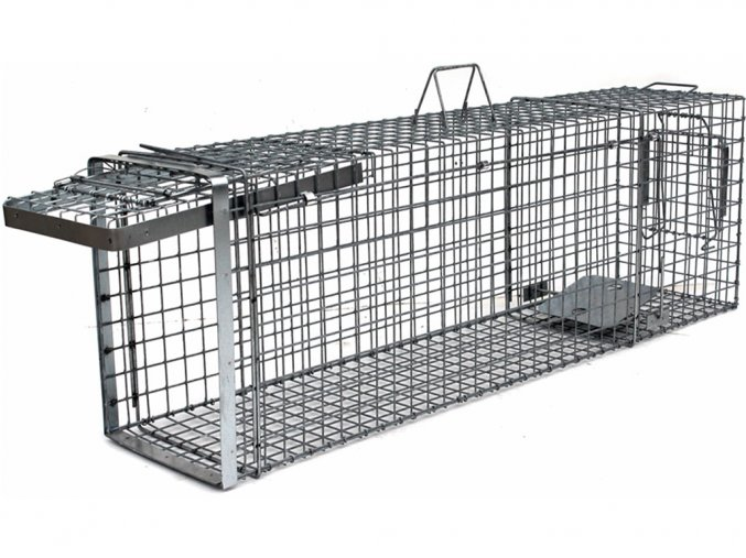 Profesionálna odchytová pasca na kuny, mačky, psy, vydry, bobry, líšky - H120x34x42  + v balenie DARČEK ZADARMO - odchytová sada za €7.99,-
