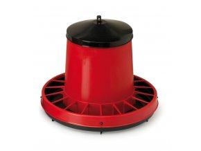 Kŕmny automat pre sliepky, hydinu CF012.40 VENERE 8kg, fixná ochranná mriežka proti plytvanie, plastový