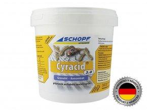 Insekticíd na hubenie muších lariev s dlhodobým účinkom CYRACID2.0, 1kg