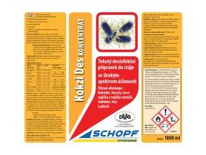 Dezinfekčný prípravok na čistenie a dezinfekciu kurníkov sa širokým spektrom účinnosti KOKZI DES KONZENTRAT, 1l