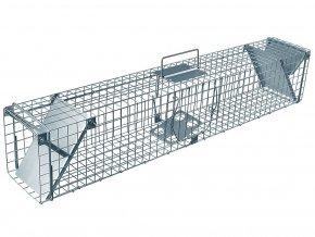 Pasca na kunu, potkana a krysu, lasicu, norka a mačku ZL102x17x20 kvalitné sklopec priechodnej s dvoma záklopkami