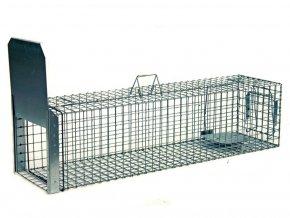Profesionálne sklopec na líšky, kuny, psy, vydry a bobry ZL118x34x34B1 špičková drôtená pasca s jedným vstupom a dvojitou záklopkou2