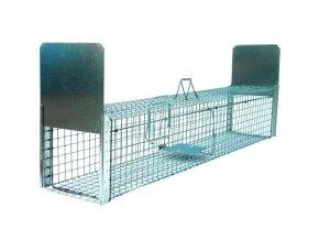 Profesionálne pasca na líšky, kuny, psy, vydry a bobry ZL118x34x34B2 kvalitné priechodnej sklopec s nášľapným systémom padacích brán2