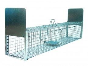 Profesionálne pasca na líšky, kuny, psy, vydry a bobry ZL130x34x34B2 kvalitné priechodnej sklopec s nášľapným systémom padacích brán 1