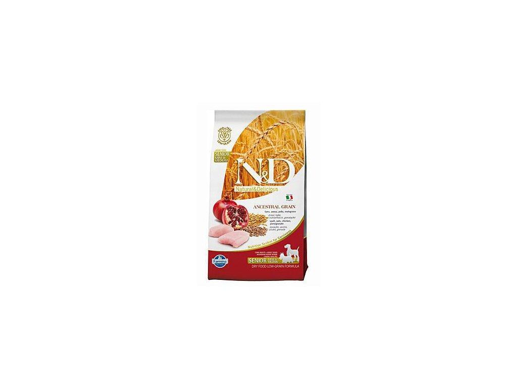 N&D Low Grain DOG Senior Light S/M Chicken & Pomegr