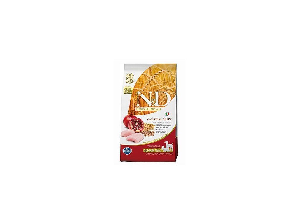 N&D Low Grain DOG Senior M/L Chicken&Pomegr