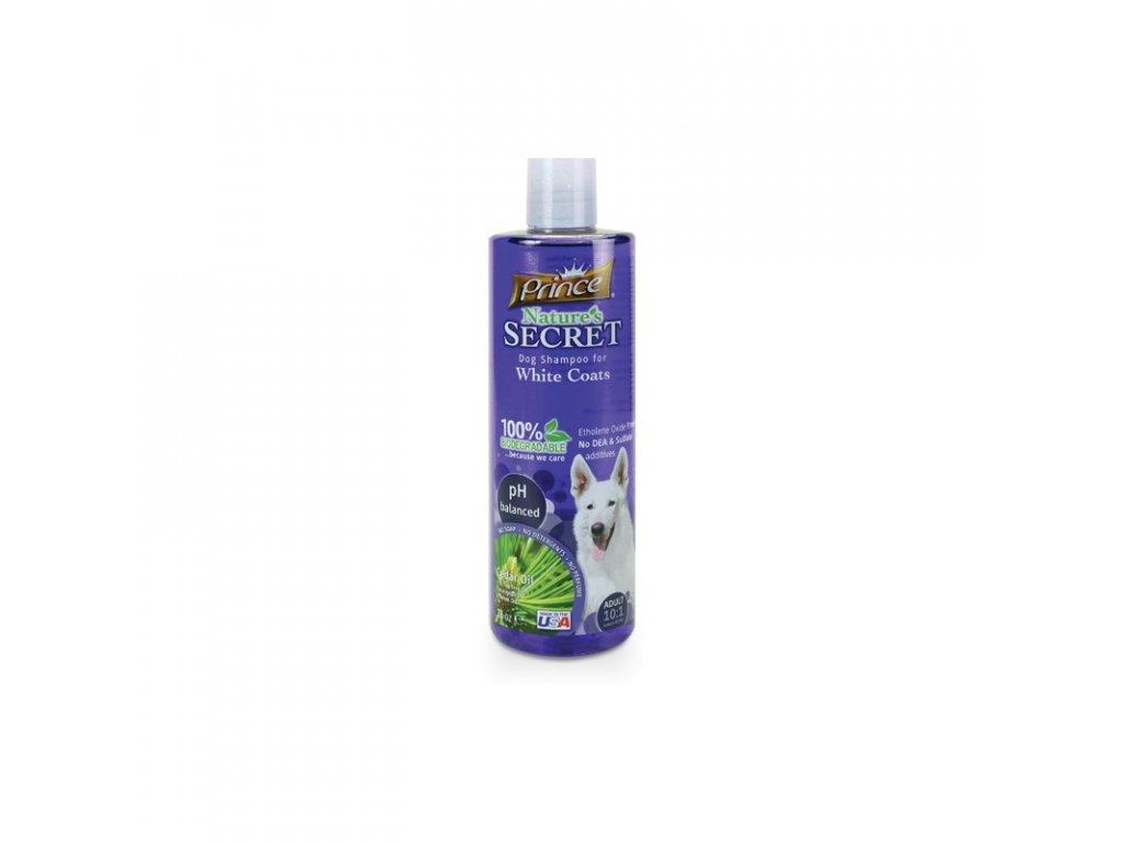PRINCE & PRINCESS NATURES SECRET šampon na bílou srst