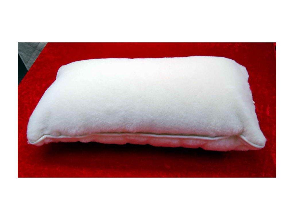 Polštář ze 100% ovčí vlny 40 x 80 cm