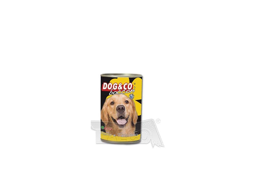 DOG&CO chunky kuřecí s krůtím 400g