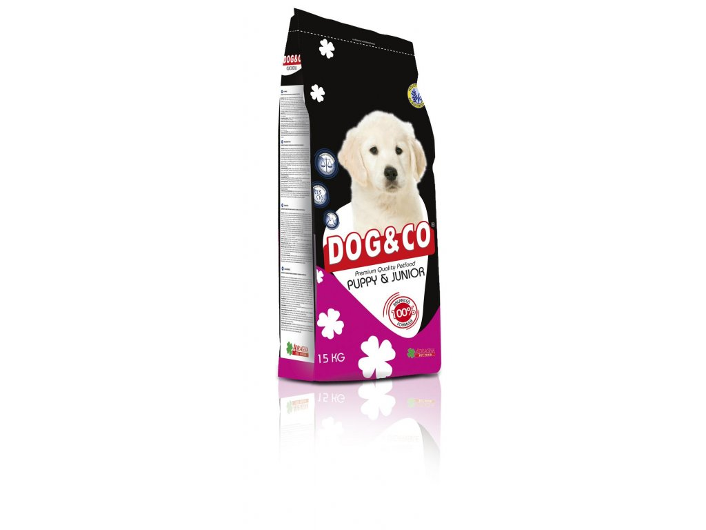 DOG & CO Puppy & Junior 15 kg
