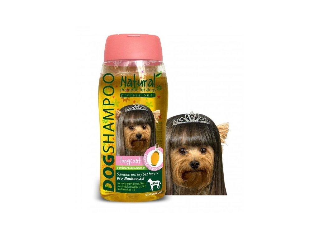 Šampon pro psy - na dlouhou srst s jojobovým a norkovým olejem