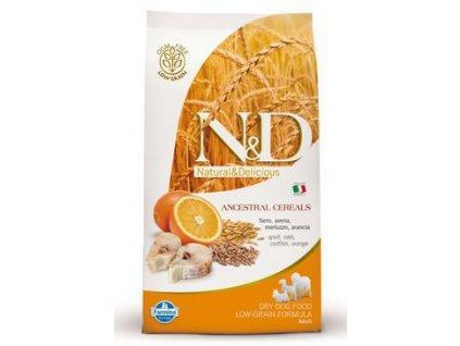 N&D Low Grain DOG Adult Mini Codfish & Orange