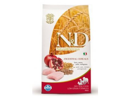 N&D Low Grain DOG Adult Mini Chicken & Pomegr