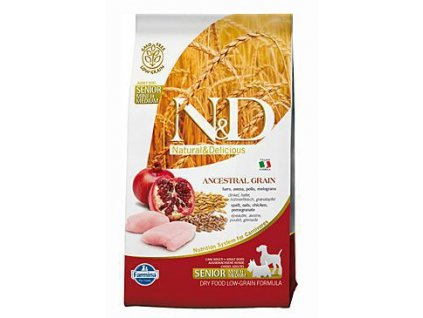 N&D Low Grain DOG Senior Light S/M Chicken & Pomegr