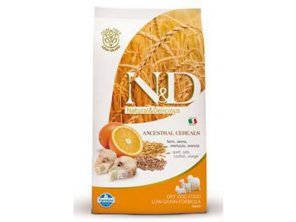 N&D Low Grain DOG Adult Maxi Codfish & Orange