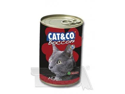 CAT&CO Chunky 400 g - konzerva s masovými knedlíčky