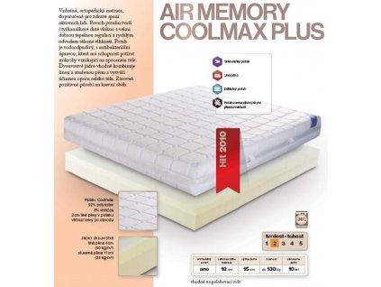 Matrace Air Memory Coolmax