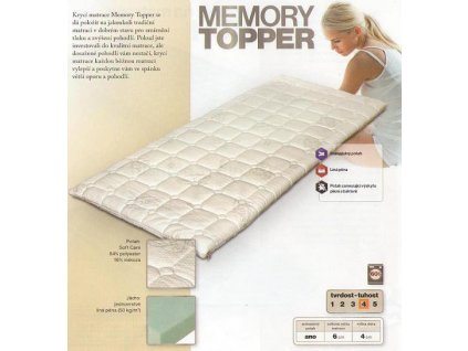 Krycí matrace Memory Topper